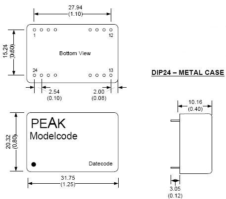 PEN4-4815E4:1LF, DC/DC